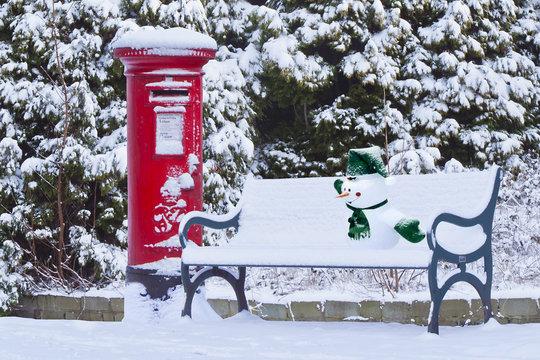 English Snow Fairytale in Kirkstall, Leeds, England, UK