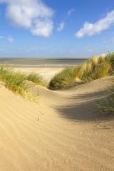 Beach and dunes at Knokke, Belgium