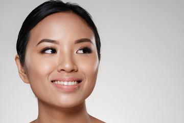 Beauty portrait of a happy asian woman