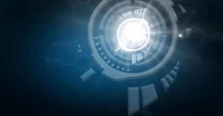 Futuristic technology interface underwater light