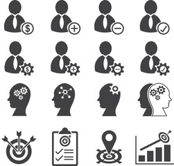 Business human resource and management icons
