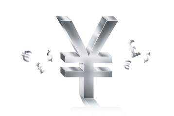 silver texture currency symbols forex trading concept
