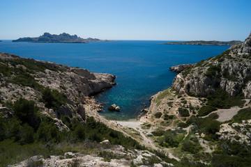 Paysage des calanques de Marseille