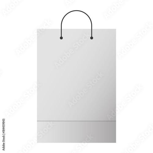 Shopping Bag Template Sample Business Stationery Blank Vector Illustration