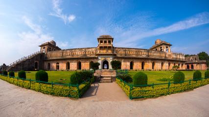 Mandu India, afghan ruins of islam kingdom, mosque monument and muslim tomb. Jahaz Mahal.