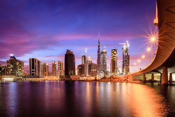 Canvas Prints Middle East Dubai downtown skyline