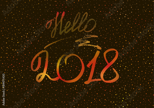 new year 2018 new years greeting card cover banner