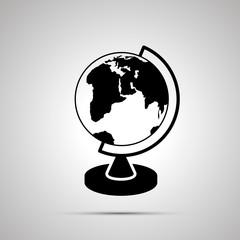 School globe silhouette, simple black icon