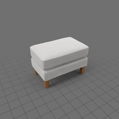 Rectangle shaped ottoman