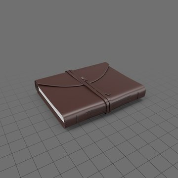 Leather journal with a tie closure