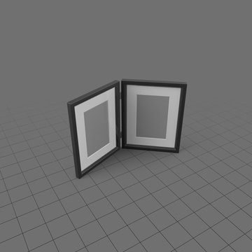 Two-sided picture frame