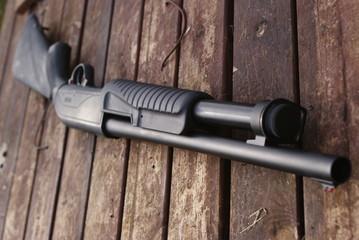 shotgun, pump action