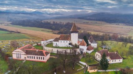 Hosman fortified church in Transylvania, Romania