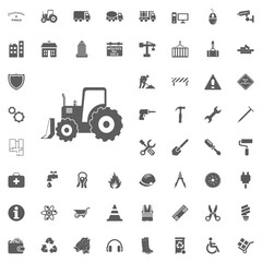 Excavator icon. Construction and Tools vector icons set