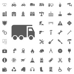 Truck icon. Construction and Tools vector icons set