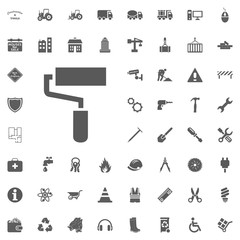 Cushion, paint roll icon. Construction and Tools vector icons set