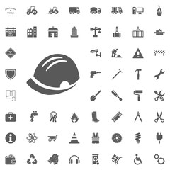 Helm icon. Construction and Tools vector icons set