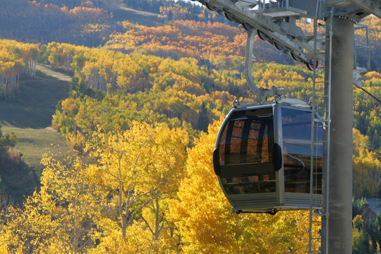 Gondola with amazing Fall Color