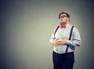 Man having indigestion