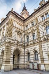 Novi Sad, Serbia May 20, 2017: City house in Novi Sad