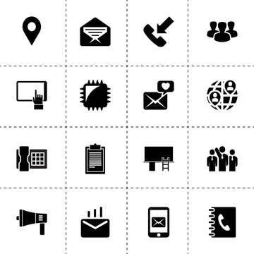 Communication icons. vector collection filled communication icons