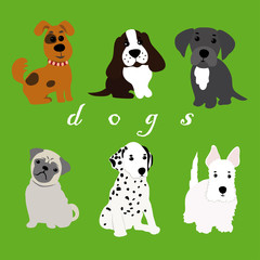 Dogs of different breeds