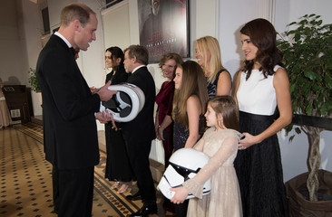 Prince William, Duke of Cambridge attends the European Premiere of Star Wars: The Last Jedi, at the Royal Albert Hall in London