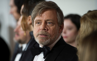 Mark Hamill attends the European premiere of Star Wars: The Last Jedi, at the Royal Albert Hall in London