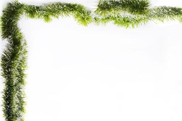 Christmas garland. Isolated photo