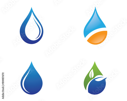 water drop logo template vector illustration design stock image and