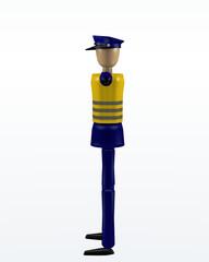 Vorfahrtsregelung durch einen Polizisten: freie Fahrt