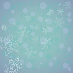 snowflakes background for the new year and Christmas design