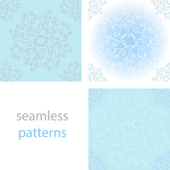 Seamless vintage  background with lace round the pattern of swirls