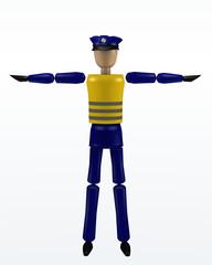 Vorfahrtsregelung durch einen Polizisten: Halt