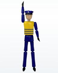 Vorfahrtsregelung durch einen Polizisten: noch warten