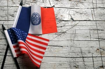 Fototapeta New York City Stad Nei Yarrick Schtadt न्यूयॉर्क नगर ニューヨーク Nowy Νέα Nueva flag Υόρκη Jork Nova Iorque  York-borg Thành phố 纽约 Нью-Йорк bandera ნიუ-იორკი نيويورك obraz