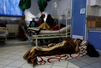 Patients are seen at the emergency room of the General Hospital during a strike by healthcare employees against Bolivia's government policies for health rules, in La Paz