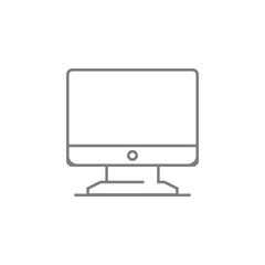 Computer monitor thin line icon. Web element. Premium quality graphic design. Signs symbols collection, simple icon for websites, web design, mobile app, info graphics