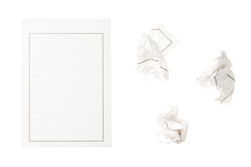 set of letter isolated on the white background.
