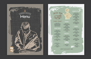 Creative menu design.