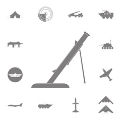 Mortar icon. Set of military elements icon. Quality graphic design collection army icons for websites, web design, mobile app