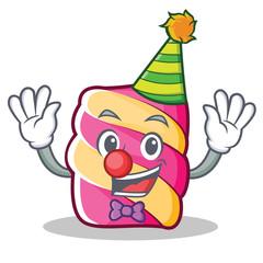 Clown marshmallow character cartoon style