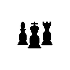 Black chess figures silhouettes icon. Strategy managment Icon. Premium quality graphic design. Signs, symbols collection, simple icon for websites, web design, mobile app