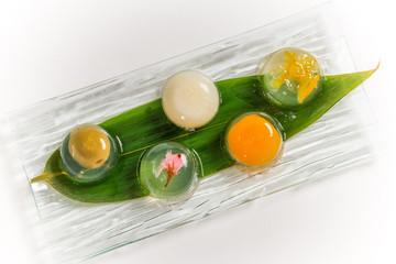 和風ゼリー Sweet Japanese-style jelly dessert