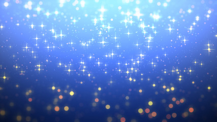 blur background with bokeh effect, Out of focus background. Colorful lights bokeh on blue background, blur dust motion graphic, Particle motion, gradient radial effect