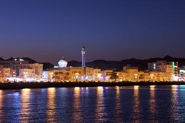 Muscat Oman at night
