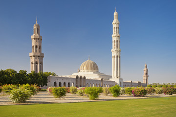 Grand Mosque in Oman Muscat