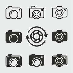 Photo icons set.
