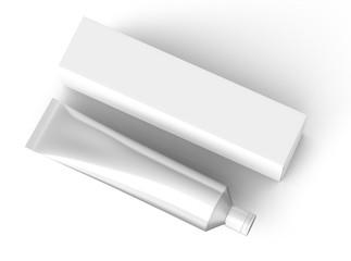 Toothpaste package mockup
