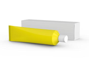 Blank toothpaste mockup